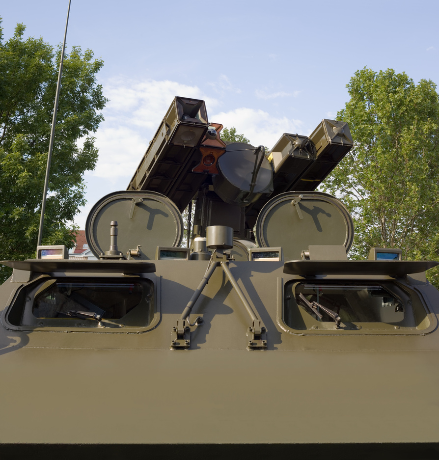 Four Anti Air Missile Turret Louncher on Armored Vehicle